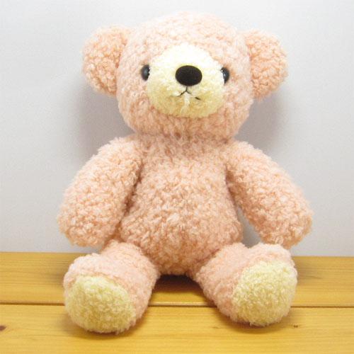 童心 日本製オリジナル くまのぬいぐるみ フカフカシリーズ クマのフカフカ Mサイズ NEWローズ
