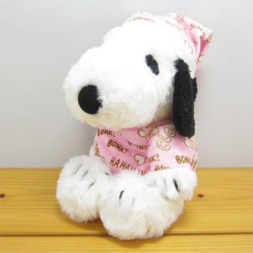 PEANUTS(ピーナッツ) スヌーピー(SNOOPY) FUWAKUTA スヌーピー パジャマ(ピンク) ふわくたぬいぐるみ