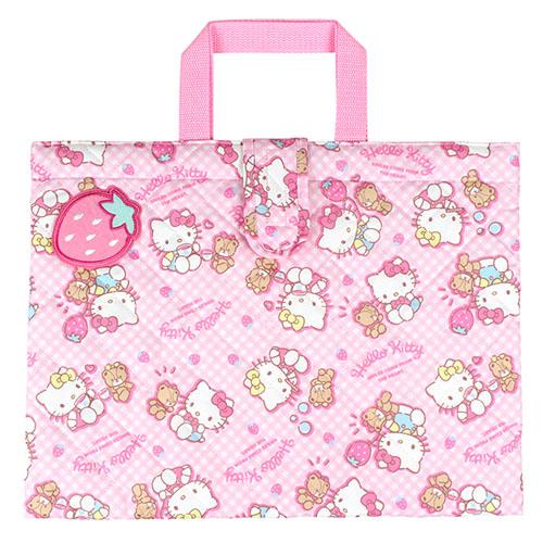 サンリオ ハローキティ(Hello Kitty) キルトレッスンバッグ ピンク