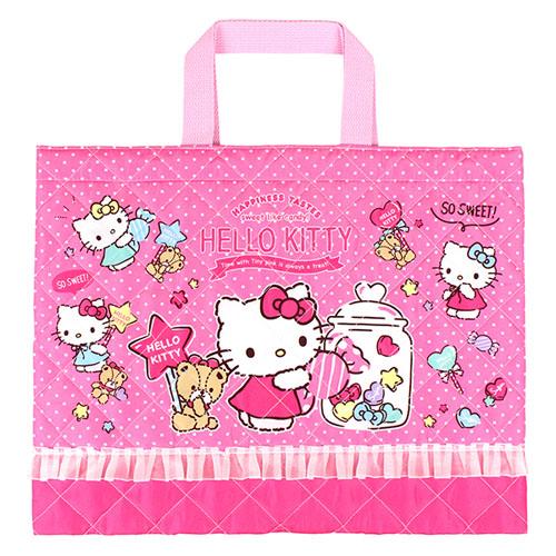 サンリオ ハローキティ(Hello Kitty) キルトレッスンバッグ ローズピンク