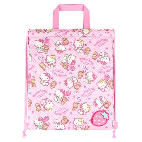 サンリオ ハローキティ(Hello Kitty) キルトナップサック ピンク