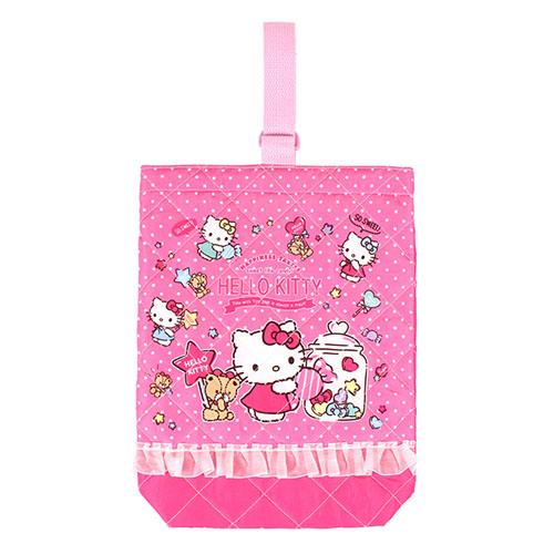 サンリオ ハローキティ(Hello Kitty) キルトシューズケース ローズピンク