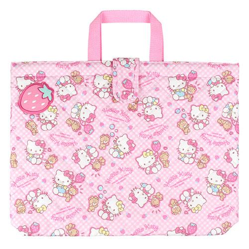 サンリオ ハローキティ(Hello Kitty) キルトレッスンバッグ大 ピンク