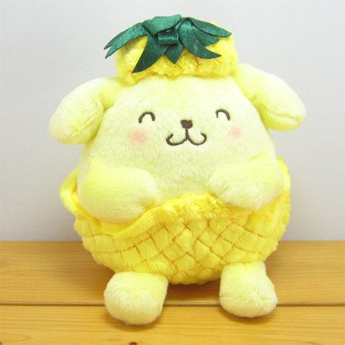 サンリオキャラクターズ フルーツ☆ぱんつ ポムポムプリン(POMPOMPURIN) ぬいぐるみS