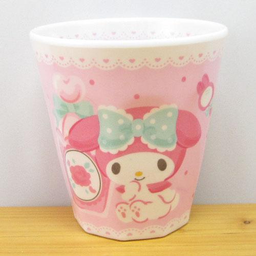 サンリオキャラクターズ マイメロディ(MY MELODY) Wプリントメラミンカップ ハピネスガール