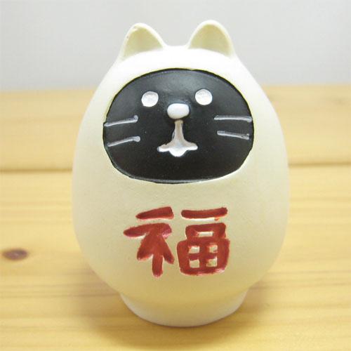 DECOLE(デコレ) fukumono(フクモノ) concombre 福ねこだるま(白)
