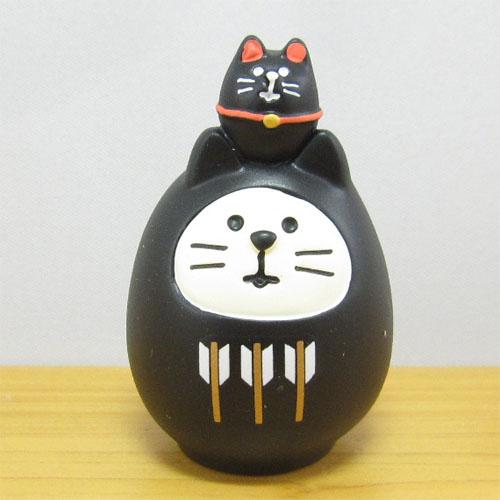 DECOLE(デコレ) concombre(コンコンブル) FUKU福MONO(フクモノ)シリーズ 開運カラー 福猫だるま・黒