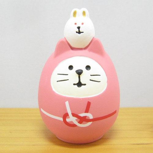 DECOLE(デコレ) concombre(コンコンブル) FUKU福MONO(フクモノ)シリーズ 開運カラー 福猫だるま・桃