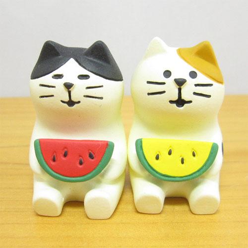 DECOLE(デコレ) concombre(コンコンブル) イカス スイカ天国 なかよしスイカ猫