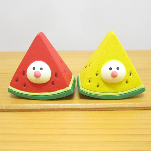 DECOLE(デコレ) concombre(コンコンブル) イカス スイカ天国 赤と黄色のスイカ文鳥(セット)