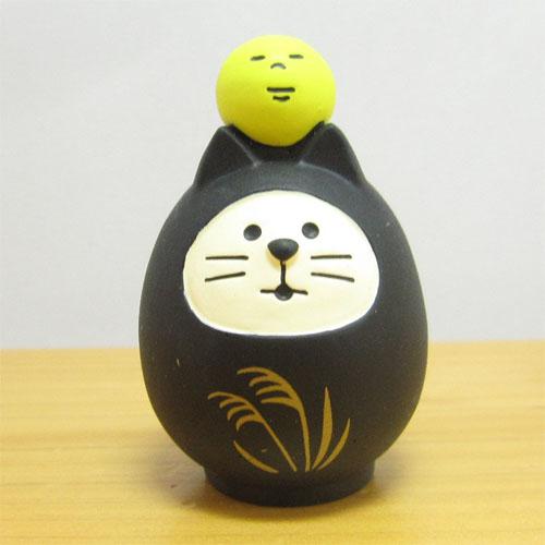 DECOLE(デコレ) concombre(コンコンブル) お月見 竹の湯温泉 月夜のおもてなし お月見猫だるま