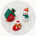 NAUGHTY(ノーティー) ノーティーハッピークリスマス ミニミニフレンズセット スノーマン&ハウス