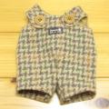 童心 日本製オリジナル クマのフカフカ Mサイズ用 コスチューム(チドリグリーンサロペット)