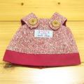 童心 日本製オリジナル クマのフカフカ Sサイズ用 コスチューム(レッドスカート)