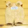 童心 日本製オリジナル クマのフカフカ Sサイズ用 コスチューム(オレンジサロペット)