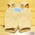 童心 日本製オリジナル クマのフカフカ Mサイズ用 コスチューム(オレンジサロペット)