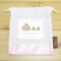 カピバラさん Sweets Collection 巾着Sサイズ(ピンク)