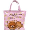 リラックマ PVCビニールバッグシリーズ ビッグトート(ピンク)