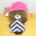 くまのがっこう カラビナマスコット ジャッキー ピンク帽子