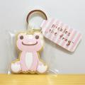 カエルのピクルス(かえるのピクルス) クッキーキーリング ピクルス ピンク