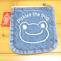 カエルのピクルス(かえるのピクルス) コットントートバッグシリーズ ピクルス 刺繍 ミニポーチ デニム フェイス