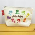カエルのピクルス(かえるのピクルス) キャンバス刺繍BAGシリーズ ピクルス キャンバス刺繍 ポーチ