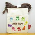 カエルのピクルス(かえるのピクルス) キャンバス刺繍BAGシリーズ ピクルス キャンバス刺繍 Wポケットショルダー