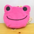カエルのピクルス(かえるのピクルス) リール付きキーマスコット(ピンク)