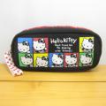 サンリオ ハローキティ(Hello Kitty) 45thモノトーンシリーズ スクエアポーチ/カラフル