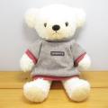 童心 日本製オリジナル くまのぬいぐるみ フカフカシリーズ クマのフカフカ Mサイズ クリーム(グレーセーター)