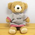 童心 日本製オリジナル くまのぬいぐるみ フカフカシリーズ クマのフカフカ Mサイズ ブラウン(グレーセーター)