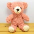 童心 日本製オリジナル くまのぬいぐるみ フカフカシリーズ クマのフカフカ Sサイズ コーラル SAKURA