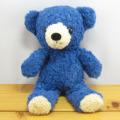 童心 日本製オリジナル くまのぬいぐるみ フカフカシリーズ クマのフカフカ Sサイズ クラシックブルー