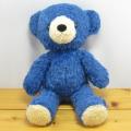 童心 日本製オリジナル くまのぬいぐるみ フカフカシリーズ クマのフカフカ Mサイズ クラシックブルー