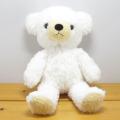 童心 日本製オリジナル くまのぬいぐるみ フカフカシリーズ クマのフカフカ Mサイズ ユニコーン・ホワイト