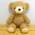 童心 日本製オリジナル くまのぬいぐるみ フカフカシリーズ クマのフカフカNEW Mサイズ ブラウン