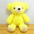 童心 日本製オリジナル くまのぬいぐるみ フカフカシリーズ クマのフカフカNEW Mサイズ たんぽぽ