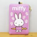 ディック・ブルーナ miffy(ミッフィー) リール付パスケース ミッフィー お花