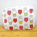 ディック・ブルーナ ミッフィー&チューリップ(miffy and tulips) 転写ポーチ ミッフィー チューリップ パターン