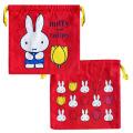 ディック・ブルーナ ミッフィー&チューリップ(miffy and tulips) 巾着(チューリップRD)