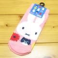 プリントソックス キャラックス ディック・ブルーナ ミッフィー&キャット(miffy and cat) キッズソックス(フラワーPK)