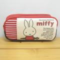 ディック・ブルーナ miffy(ミッフィー) ポケット付きボックスペンポーチL(レッド)