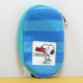 PEANUTS(ピーナッツ) SNOOPY スヌーピーボーダーシリーズ スマートキーケース(ブルー)
