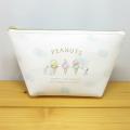 PEANUTS(ピーナッツ) SNOOPY サマーシリーズ フラミンゴ&アイスクリーム 舟形ポーチ アイスクリームアップ スヌーピー