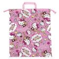 サンリオ ハローキティ(Hello Kitty) 巾着L ローズピンク