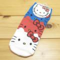 サンリオ ハローキティ(Hello Kitty)  ソックス 重なりデザイン 赤 【靴下 レディース】