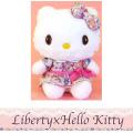 Liberty×Hello Kitty リバティ×ハローキティ リボンワンピPK ぬいぐるみMサイズ