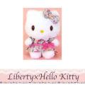 Liberty×Hello Kitty リバティ×ハローキティ リボンワンピPK ぬいぐるみSサイズ
