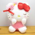サンリオキャラクターズ フラワーリボン ハローキティ(Hello Kitty) ぬいぐるみS