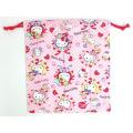 サンリオ ハローキティ(Hello Kitty) 巾着M ローズピンク